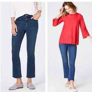 J.Jill Kick & Flare Ankle Jeans